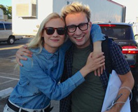 Diane Kruger and Alex Plank on set of The Bridge